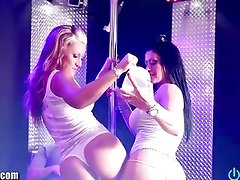 STRIPPERS WITH BIG BOOBS! THREESOME! BABES!