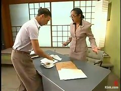 Mika Tan Torturing a Guy's Cock and Strapon Fucking His Ass in Femdom