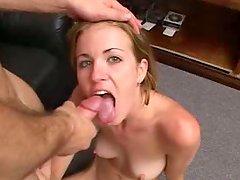 Svelte blondie hops on strain dick reverse cowgirl style