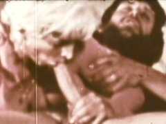 Vintage porn scene with a hot deepthroat
