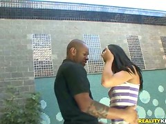 Slender Nataly Bueno gets her tight ass destroyed by Black dude