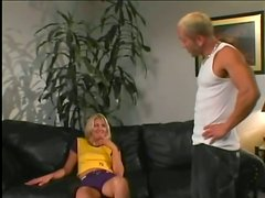 Thin Blonde With Small Tits Gets Her Face Covered With Jizz