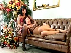 Two Brunette Whores Sucking And Fucking Doggystyle With A Horny Man