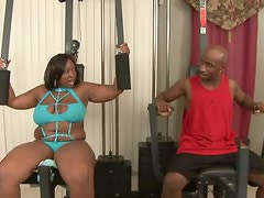 Black Butt BBW Getting Fucked Doggystyle And Missionary At The Gym