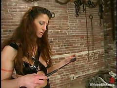 Kym Wilde plays with Piercedangel's pierced cunt in BDSM scene