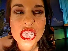 Susi is swallowing giant cum loads