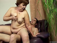 Redhead getting down and nasty in