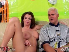 Passionate Veronica Avluv rides a dick and gets a mouthful