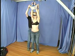 Hogtie and belting adventures with petite Leila