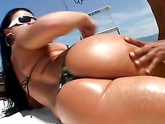 Anal sex on a boat with the hot Amandah Matarazzo