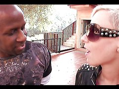 Naughty blonde teen's fucked by a black monster cock