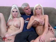 Christie Stevens and Rikki Six get their pussies licked and pounded