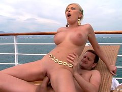 Donna Bell Hot Busty Blonde MILF Fucked in the Ass on a Yacht