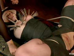 Alice Frost gets hung up and tormented by adorable mistress Bobbi Starr