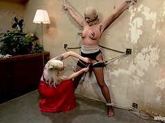 Laela Pryce gets whipped and toyed rough by nasty Lorelei Lee
