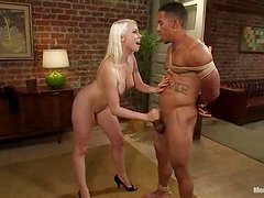 Sexy Lorelei Lee whips Lobo's dick and toys his ass