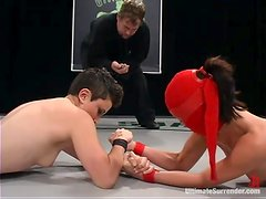 Syd Blakovich loses a fight to Crimson Ninja and gets toyed