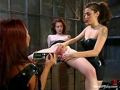 Justine Joli gets tormented by two chicks and enjoys it