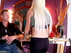 Epic Footjob by Skillful Blonde with Natural Tits Stevie Shae