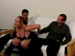 Two Horny Guys And Chubby Amateur Hooker In Wild Sex