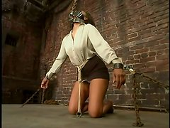 Tying and Toying Ebony Sinnamon Love in Kinky BDSM Video