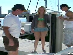 Pretty Bree gets her ass fucked on a boat in close-up video