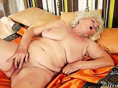 With gigantic knockers shows off her naughty parts