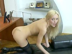 Rocco Siffredi loves to have sex with slutty slim blonde chicks like Logan A. Today he