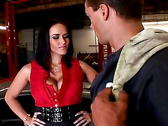 Stunnin' brunette with big tits gets her tight asshole fucked
