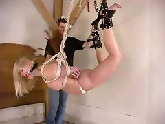 Submissive Rhannion gets humiliated in a bondage video