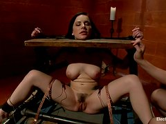 Face Sitting and Toying Katie St Ives in Wild Bondage Lesbian Video