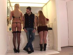 Dressing room adventures with two sexy blond betties