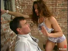 Wild Bill gets pulled by the nipples and fucked with a toy in BDSM clip