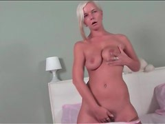 Blonde milf with big natural tits naked