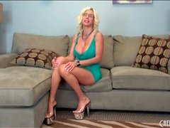 Lingerie and heels look hot on Puma Swede