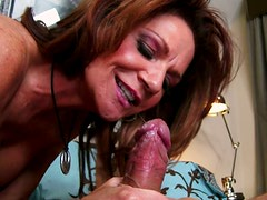 Deauxma is bouncing her ass and boobs while riding Mr Pete's meat pole