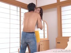 Beautiful mature hottie Neko Ayami fucks a teen boy.