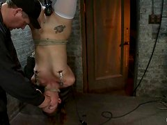 Suspended Alllie Haze gets punished and tortured