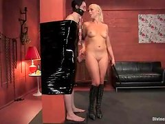 Lorelei Lee makes Kade suck her strapon before she pokes it in his ass