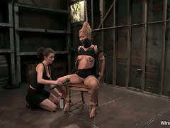 Gorgeous Blonde Going Through Torture and Extreme Bondage in Femdom
