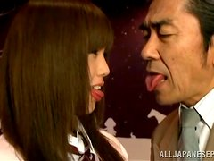Clothed Missionary Style Sex with Japanese Girl in Skirt