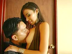 Mind-blowing latin girl is playing with her tight pussy