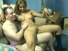 Small titted chick Cinnamon gives awesome lap dance