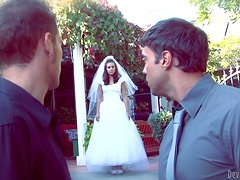 Gorgeous Gracie Glam gets nailed on the wedding night