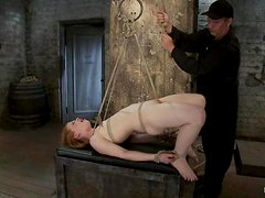 Submissive Madison gets her tits tortured with clothespins