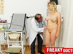 Giant true racks Kathy Sweet gyno exam