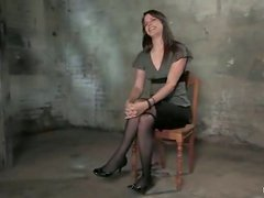 Brunette in stockings Bobbi Starr is loving some BDSM