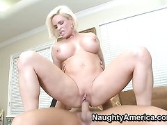 Diamond Foxxx with big knockers and trimmed muff