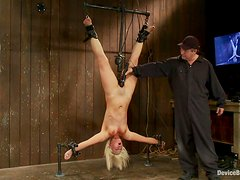 Sexy Tara Lynn Foxx gets suspended and toyed deep
