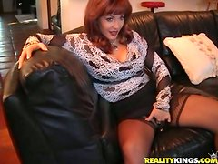 Foxy MILF Spreads Her Legs For Young Stud